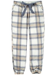 Fat Face Cuffed Check Lounge Trousers Grey