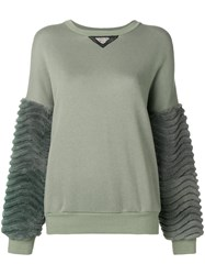 Mr And Mrs Italy Laser Sculpted Sweatshirt Green