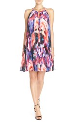 Women's Maggy London Pleat Chiffon Trapeze Dress