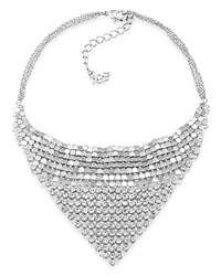 Abs By Allen Schwartz Mesh Necklace 12 Silver