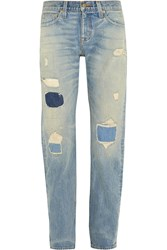 J.Crew Point Sur Denim X Rocker Distressed Boyfriend Jeans Blue