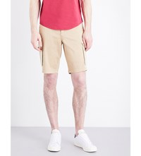 Armani Jeans Stretch Cotton Cargo Shorts Beige