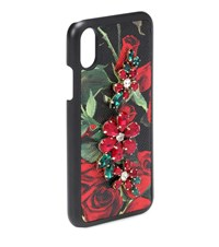 Dolce And Gabbana Printed Leather Iphone X Case Multicoloured