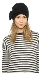 Marc By Marc Jacobs Alice Bow Cashmere Beanie Black