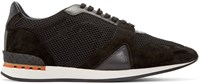 Burberry Black Mesh Field Sneakers