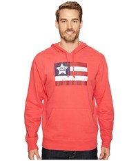 Life Is Good Flag Go To Hoodie Americana Red Men's Sweatshirt