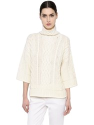 Max Mara Braided Wool And Cashmere Knit Sweater