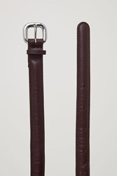 Cos Padded Leather Belt Red