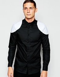 Han Kjobenhavn Han Shirt With Shoulder Detail Blackwhite