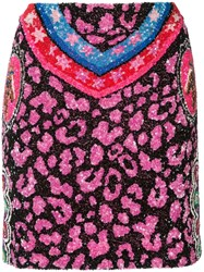 Manish Arora Sequin Mini Skirt Black