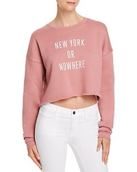 Knowlita New York Or Nowhere Cropped Sweatshirt 100 Exclusive Mauve