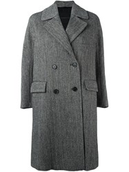 Ermanno Scervino Double Breasted Mid Length Coat Black