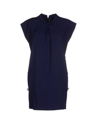 La Camicia Bianca Short Dresses Dark Blue