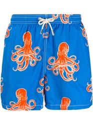 Mc2 Saint Barth Graphic Print Swim Shorts Blue