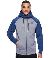 The North Face Mack Mays Full Zip Hoodie Tnf Medium Grey Heather Shady Blue Men's Sweatshirt Gray
