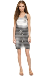 Faherty Breton Stripe Tank Dress Cream