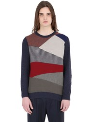Bob Strollers Patchwork Wool Blend Sweater