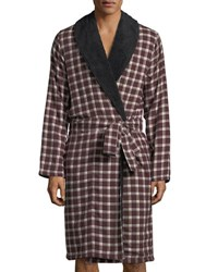 Ugg Kalib Plaid Fleece Lined Robe Port