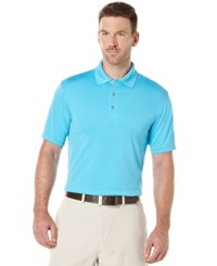 Pga Tour Big And Tall Airflux Solid Golf Polo Blue Atoll