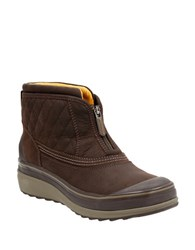 Clarks Muckers Swale Quilted Textile Ankle Boots Brown