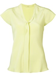 Peter Cohen V Neck Shirt Yellow Orange