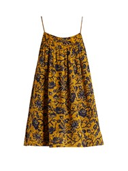 Etoile Isabel Marant Bronson Floral Print Chiffon Top Yellow