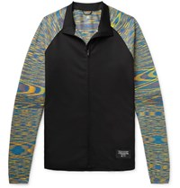 Adidas Consortium Missoni Tech Jersey And Space Dyed Stretch Knit Track Jacket Black