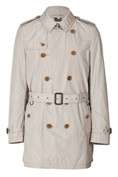Burberry Cotton Gabardine Mid Length Britton Trench