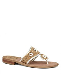 Jack Rogers Napa Valley Thong Sandals Cork White