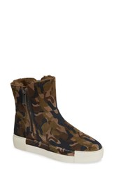J Slides Jslides Victory Double Zip Boot Green Camo Suede