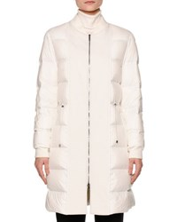 Callens Zip Front Puffy Bomber Coat Warm White