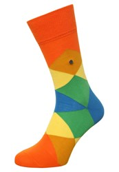 Burlington Clyde Socks Flash Orange