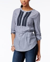 Tommy Hilfiger Striped Tie Waist Tunic