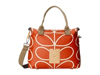 Orla Kiely Zip Messenger Vermillion Messenger Bags Red