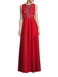 Basix Black Label Sequin Embellished Gown Red