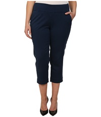 Jag Jeans Plus Size Hope Crop Narrow Fit Bay Twill True Navy Women's Capri