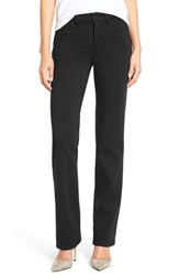 Nydj Petite Women's 'Marilyn' Stretch Twill Straight Leg Pants Black
