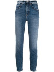 Haikure High Rise Cropped Skinny Jeans Blue