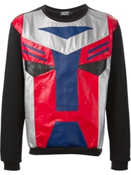 Andrea Crews 'Cybertron' Patchwork Sweatshirt Black