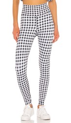 Beach Riot Piper Legging In Black And White. Gingham