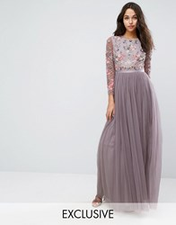Needle And Thread Ditsy Scatter Tulle Gown Lavender Purple