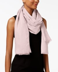 Calvin Klein Ck Logo Wrap And Scarf In One Pastel Pink
