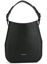 Burberry Logo Plaque Tote Black