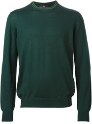 Fay Crew Neck Sweater Green