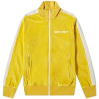 Palm Angels Chenille Track Jacket Yellow