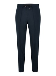 Selected Homme Navy Tapered Trousers
