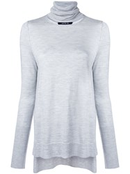 Kitx Keepers Polo Knit Women Silk Cashmere M Grey