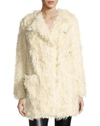 Zadig And Voltaire Vialo Faux Fur Coat Beige