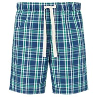 John Lewis Swanage Check Lounge Shorts Blue Green