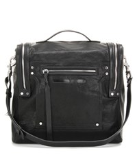Mcq By Alexander Mcqueen Convertible Box Bag Loveless Leather Shoulder Bag Black